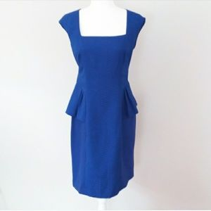 Kay Unger Colbalt Blue Peplum Design Dress